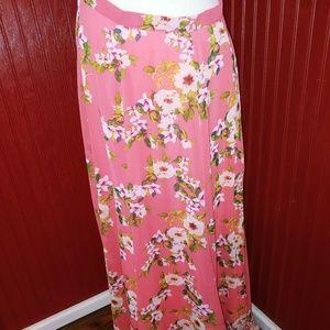 Eva Mendes Floral Maxi Skirt M